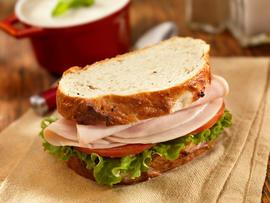 Turkey Sandwich with Mushroom Soup