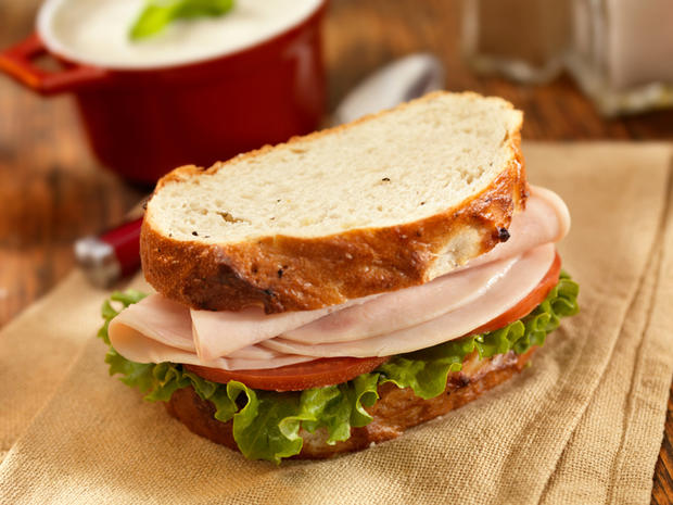 Turkey Sandwich with Mushroom Soup