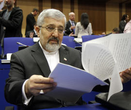 Iran's ambassador to the International Atomic Energy Agency, IAEA, Ali Asghar Soltanieh in Vienna, Austria, on March 8, 2012.