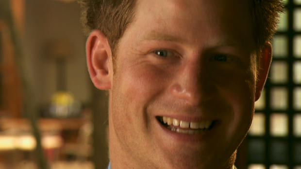 Prince Harry is seen in an interview with CBS News, March 2012.