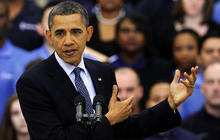Gas prices hurting Obama: poll