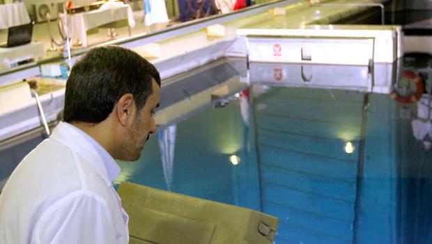 Mahmoud Ahmadinejad tours Tehran's nuclear research reactor