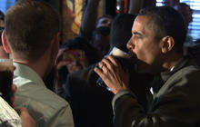 Obama marks St. Patrick's Day with a beer