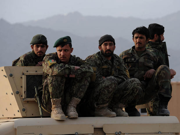 Afghan National Army (ANA) soldiers in Kabul province