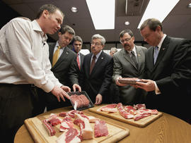 """Governors, state officials tour """"pink slime"""" plant in Nebraska"""