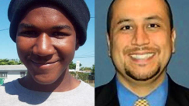Trayvon Martin, left, and George Zimmerman.