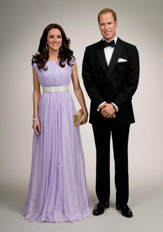 Prince William and Kate in wax