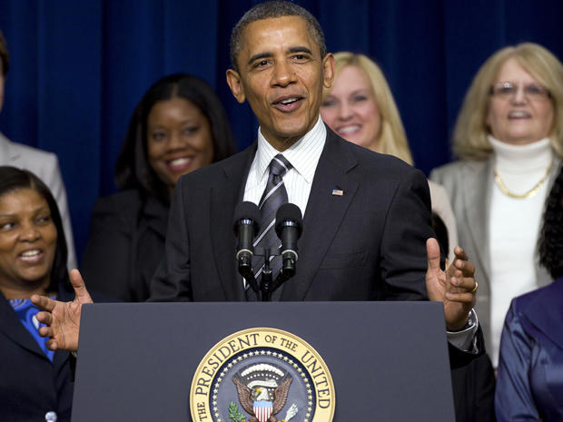 President Obama speaks at the White House Forum on Women and the Economy April 6, 2012, in the South Court Auditorium of the Eisenhower Executive Office Building on the White House complex in Washington.