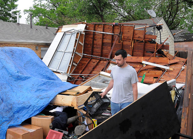 Violent storms sweep Plains States