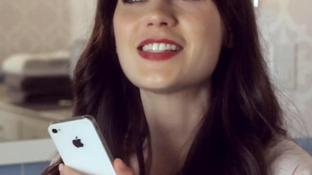 zooey deschanel, apple, iphone