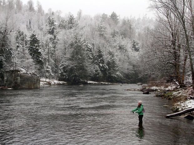 weather, snow, new york, river, generic, fishing