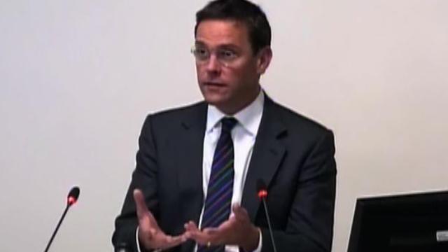 James Murdoch testifies before a U.K. inquiry