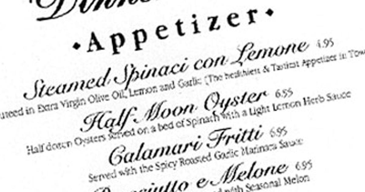 5 Things You Should Know About Restaurant Menus Cbs News