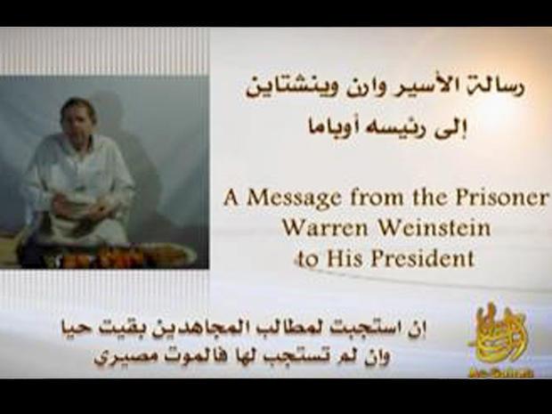 Warren Weinstein is seen in a video released by al Qaeda