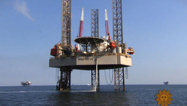 Offshore oil rig: Island living, but no paradise - CBS News