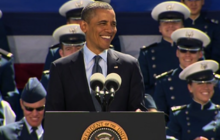 Obama speaks at Air Force commencement