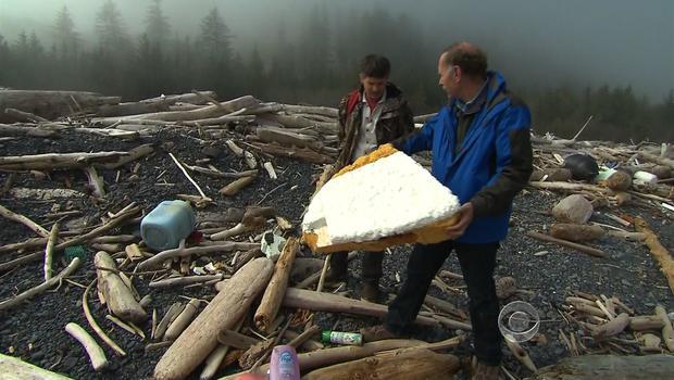 Debris from Japan's tsunami arrives in Alaska, pictured on May 24, 2012 in Seward,Alaska.