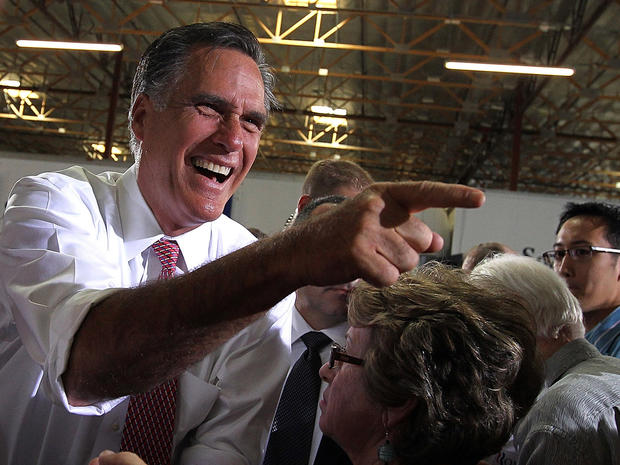 Mitt Romney greets supporters in Las Vegas