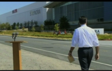 Why did Romney campaign keep Solyndra trip secret?