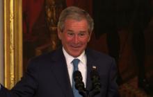 Bush brings sense of humor back to White House