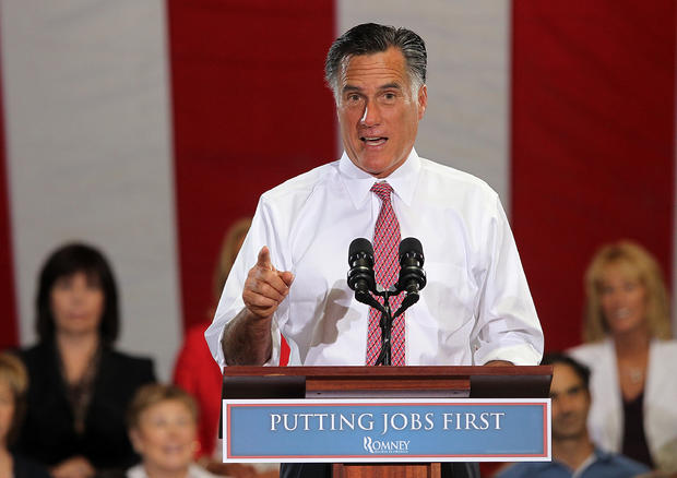 Mitt Romney speaks during a campaign rally