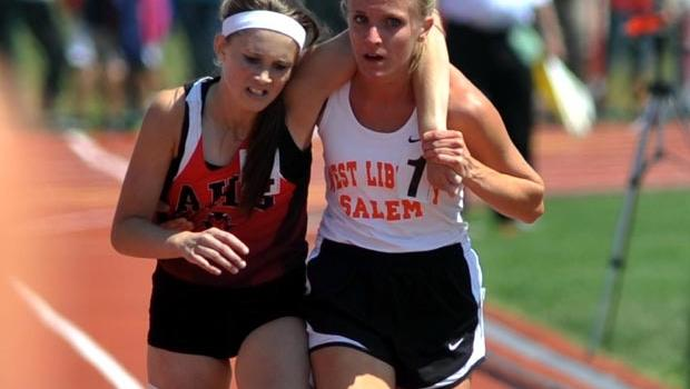 Image result for Vogel Helping McMath To The Finish Line