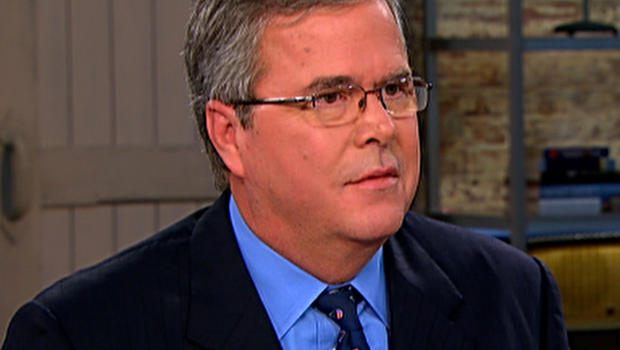 "Jeb Bush being interviewed by Charlie Rose on ""CBS This Morning"""