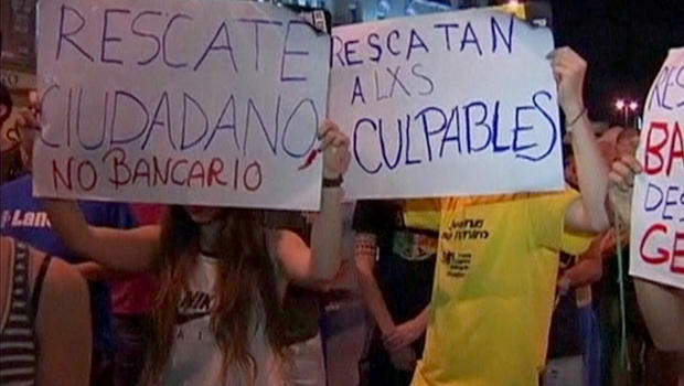 spain, protesters, bailout