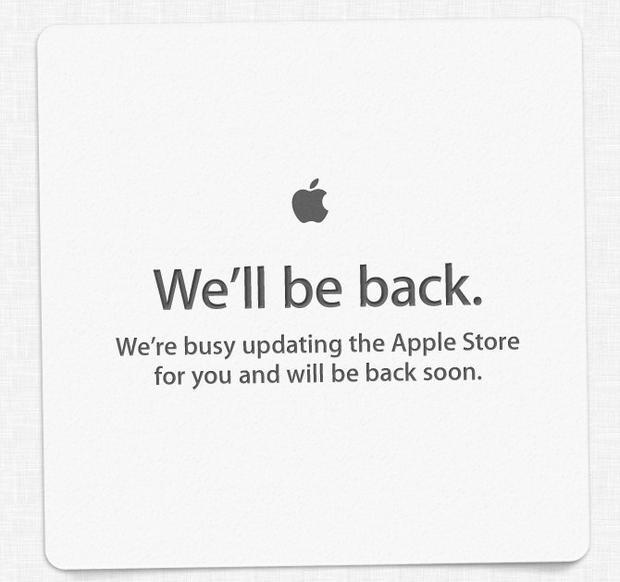 Apple's online store is down.