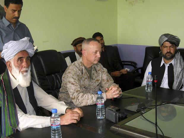 Lt. Gen. John Allen meets Afghan leaders in Logar province