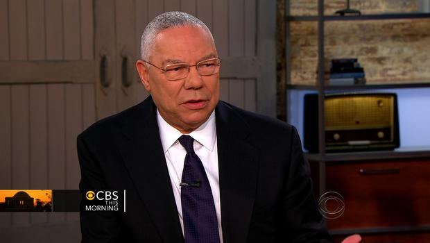 "Former Secretary of State Colin Powell speaks during an appearance on ""CBS This Morning"" June 13, 2012."