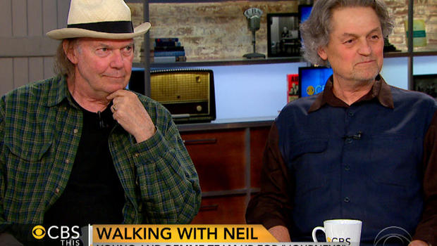 """Neil Young, left, and Jonathan Demme on """"CBS This Morning."""""""