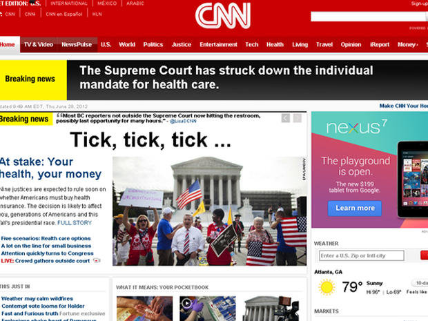 Getting it wrong: Media rushes to report on Supreme Court's health care decision