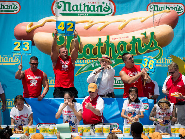 Winner: 68 hot dogs in 10 minutes