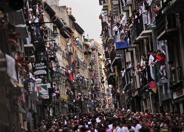 Pamplona's Running of the Bulls 2012