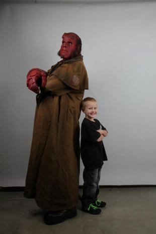 Make-A-Wish recipient Zachary meets Hellboy
