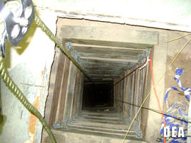 A tunnel authorities found in San Luis, Ariz., that they suspect was designed to smuggle drugs into the United States is seen in this image provided by the U.S. Drug Enforcement Administration July 12, 2012.