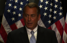 "Boehner: Americans aren't asking ""where the hell tax returns are"""