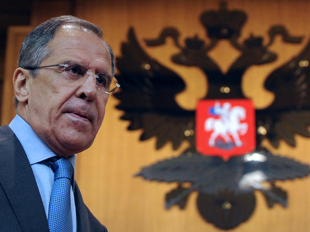 Russian Foreign Minister Sergei Lavrov attends a press conference in Moscow July 16, 2012.