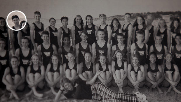 James Holmes is pictured in the 2003 Westview High School yearbook with the cross-country team.
