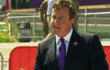 """Cameron slams Romney on """"middle of nowhere"""" Olympics"""