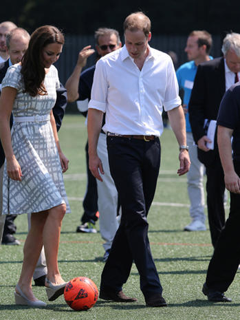 William, Kate and Harry get sporty in London