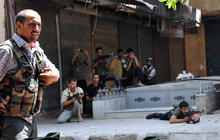 Syria forces bombard opposition in Aleppo