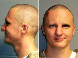 Jared Lee Loughner is seen in these undated booking photos provided by the U.S. Marshals Service.