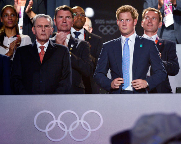 Prince Harry at the Olympics