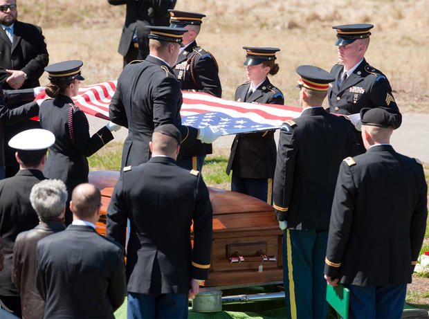 A memorial service for Capt. Michael McCaddon.