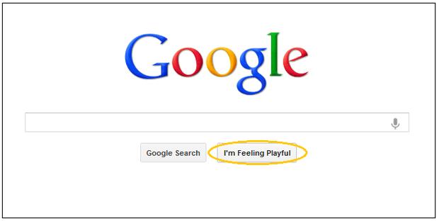 Google's 'I'm Feeling Lucky' button gets playful, artistic - CBS News