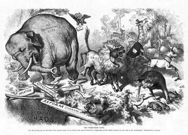 How the parties got their animal symbols - CBS News