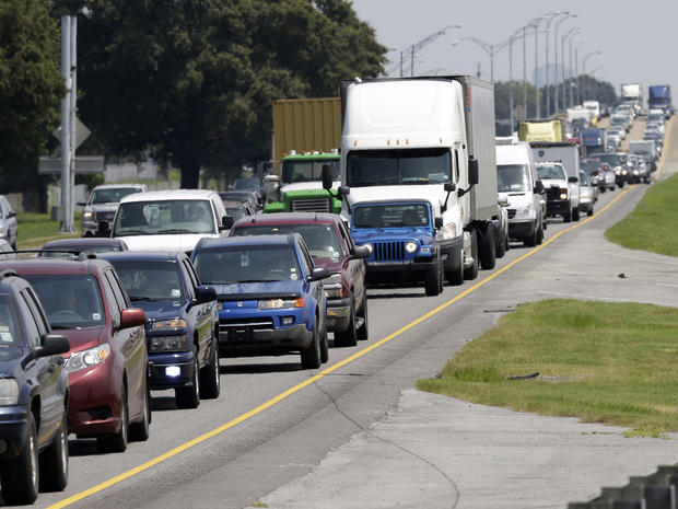 evacuations, interstate 10, isaac, new orleans