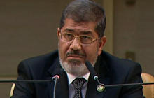 Egypt's president voices solidarity with Syrian people